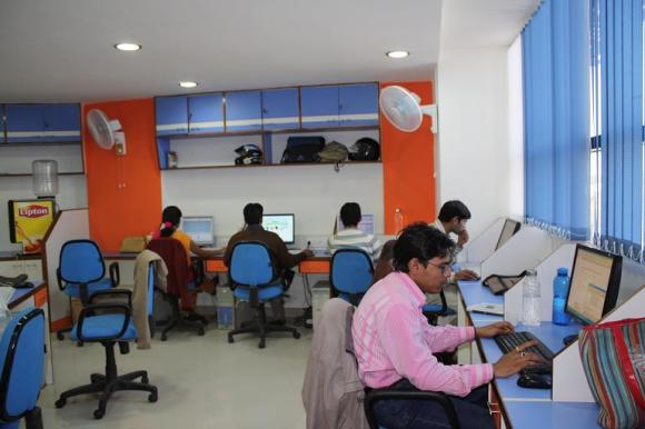 New office space was added to fit the 100% growth since March 2008