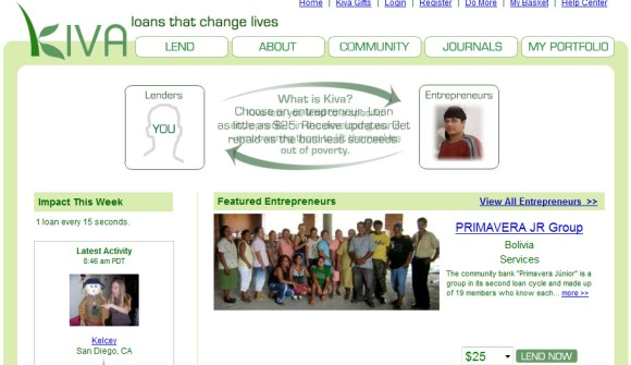 Kiva: The best operating Charity 2.0 organization